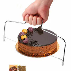 NEW CAKE CUTTER SLICER LINE BREAD WIRE CUTTING LEVELLED DECORATOR BAKING TOOL UK