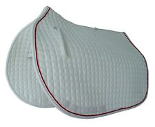 PRI Essential Cotton All-Purpose Show Pad: Quilted, White/Red