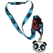 DC Suicide Squad Panda Man Lanyard Key Leash w/ Rubber Charm