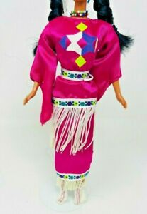 1994 Native American Barbie - Dolls of the World DOTW Complete Outfit Only