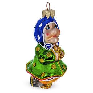 Baba Yaga Folk Tale Glass Christmas Ornament