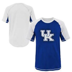Outerstuff NCAA Youth Kentucky Wildcats Color Block Rash Guard Shirt