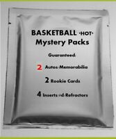 *RARE* Basketball HOT PACK NBA 2 Hits! Jersey RC Patch Auto #'d Mosaic PRIZM
