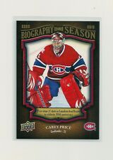 2009-10 Upper Deck Biography of A Season #BBS15 Carey Price
