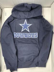 Dallas Cowboys Hoodie Sweatshirt Navy Blue M Med Sweater Shirt DAL