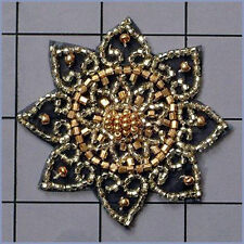 BEADED FLOWER APPLIQUE  2474-E