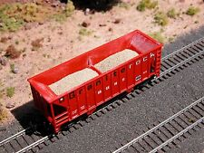 Hay Brothers - 2 PC SAND LOAD - fits Walthers Greenville 2-Bay Hopper Cars