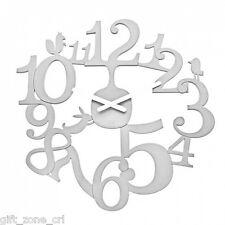 "Koziol PIP WALL CLOCK Modern Pi:P - WHITE Large 45cm 18"""