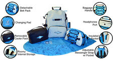 Surfer Baby Gear Diaper Bag & Backpack, Great Back Pack for Dads! Red or Blue