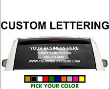 2 3 4 line back custom window business truck car vehicle vinyl lettering decal
