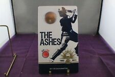 2011 The Ashes AUS vs ENG 20c Unc Coin on Card