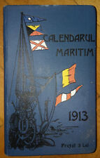 Navy Forces Maritime Calendar Timetable Book VERY RARE Kingdom of Romania 1913