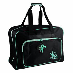 Hobby Gift Sewing Machine Bag Carry Case: Black/Turquoise