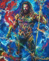 Blend Cota Jason Momoa Aquaman 14 x 11 Art Print DC Comic Art