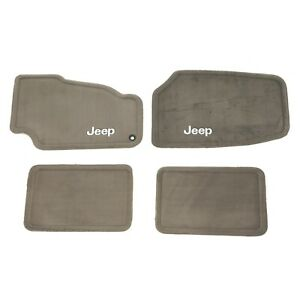 1999-2004 Jeep Grand Cherokee Carpet Floor Mats Set TAUPE MOPAR GENUINE OEM NEW
