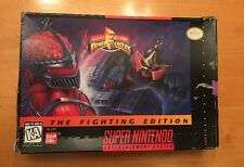 SUPER NINTENDO SNES POWER RANGERS THE FIGHTING EDITION COMPLETE IN BOX RARE NICE