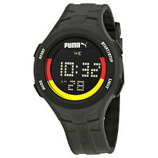 Puma Germany Digital Dial Black Silicone Mens Watch PU911301012U