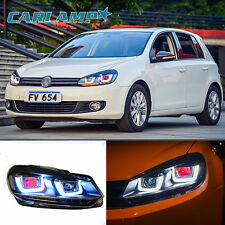 LED Headlights For Golf 6 MK6 VW VOLKSWAGEN 2010-2014 UU Style DRL Red Eyes