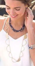 ❤️Silpada K&R Designs Half Moon Necklace Hammered Brass KRN0043 NWT