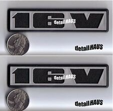 2 PACK SILVER 16V BADGE EMBLEM VW RABBIT GOLF JETTA GTi GT SCIROCCO FREE SHIP