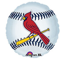 "MLB St Louis Cardinals 18"" Foil Balloons Major Baseball Helium Party 3 Pack"