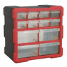 Cabinet Box 12 Drawer - Red/Black SEALEY APDC12R by Sealey