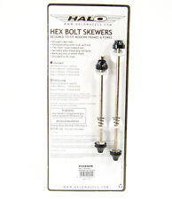 Halo Hex Key 100/135mm Bolt-On Skewer Set Front/Rear Road/Fixie Bike Cr-Mo BLACK
