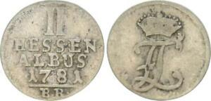 2 Albus (4 Kreuzer) 1781 Hesse-Kassel - Friedrich Ii. 1760-1785 Almost VF 44700