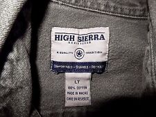 High Sierra  Button Down Denim Shirt-size LT, light green  Heavy quality denim!