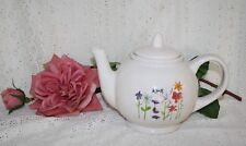 Spring Bloom Teapot Rae Dunn Artisan Collection Brown Betty Style White Teapot