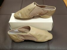 Bloch Jazz Shoes Tan Taupe TPE Slip-On Split Sole Adult 11