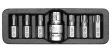 TORX Bitsatz Steckschlüssel Stahl T25 T30 T40 T45 T50 T55 1/2 Zoll Nuss7 tlg