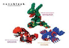nanoblock Pokemon 2020 full set( set of 3)  GROUDON, RAYQUAZA, KYOGRE
