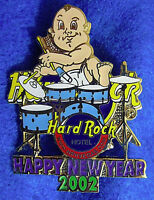 LAS VEGAS HOTEL NEW YEAR ROCKIN BABY TODDLER BAND DRUMMER Hard Rock Cafe PIN LE
