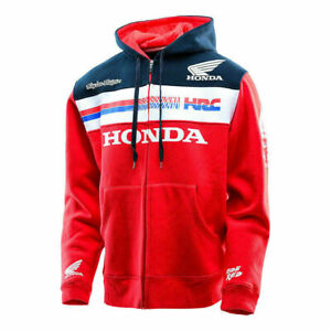 Honda-HRC-Racing Zipper Jacke Hoodie MOTO Hooded Sweatshirt Herren Mäntel Top DE