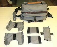 Vintage Gray Tamrac Camera/Camcorder Bag With Suede Handle & Hama Film Safe