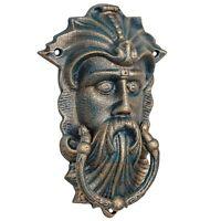 Aldaba vikingo cara hierro estilo antiguo 25cm