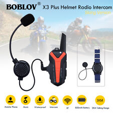 BOBLOV X3plus 3KM Motorcycle Interphone Helmet Bluetooth Walkie Talkie Bicycle