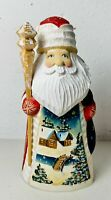 """Russian Hand Carved Painted Wood Santa Claus Father Christmas St Nick Village 6"""""""