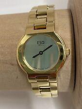 "Women's Swiss ESQ by Movado Watch, Chain Link Bracelet, Gold Tone 7.25"" With Box"