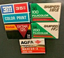 5 rolls  35mm film expired lot job Agfa & Fuji & 3M out date