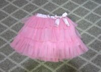 BABY GAP Girl's Bright Pink Tulle Ruffle Tutu Skirt 3T EASTER
