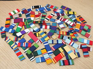 MEDAL RIBBON BAR - 1 SPACE FULL SIZE - PINNED or STUDDED or SEWN