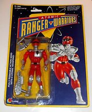 Vintage 1994 Lanard Toys - Atomic Ranger Warriors ~ RED RANGER ~ New on Card MOC