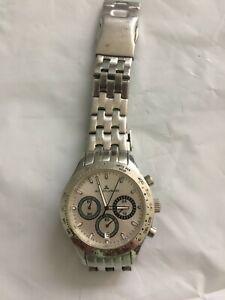 [READ DESCRIPTION] Silver Color Jacques Lemans Chronograph Men's Watch - Works
