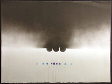 RC Ellis Signed & Numbered Untitled Abstract Lithograph Art Print, black & white