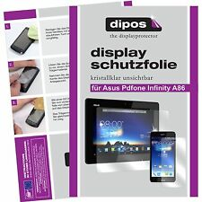 6x Asus PadFone Infinity A86 Schutzfolie klar Displayschutzfolie Folie dipos