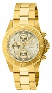 Invicta Men 1774 Pro-Diver Collection 18k Gold Ion-Plated Stainless Steel Watch