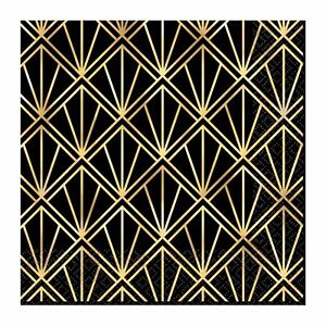 HOLLYWOOD GLITZ GLAM BEVERAGE NAPKINS GATSBY 20'S NEW YEARS EVE PARTY DECORATION