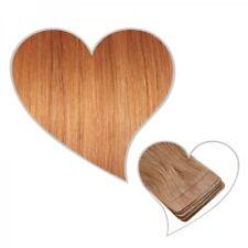 10 EXTENSIONS DE BANDE Blond Cuivré #71 45 cm 25 g Cheveux véritables Skin Weft